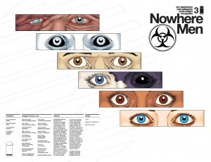 Nowhere Men 03 second printing wraparound cover