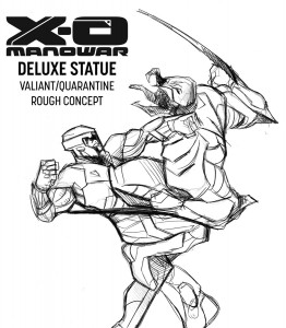 X-O Manowar Quarantine Sketch